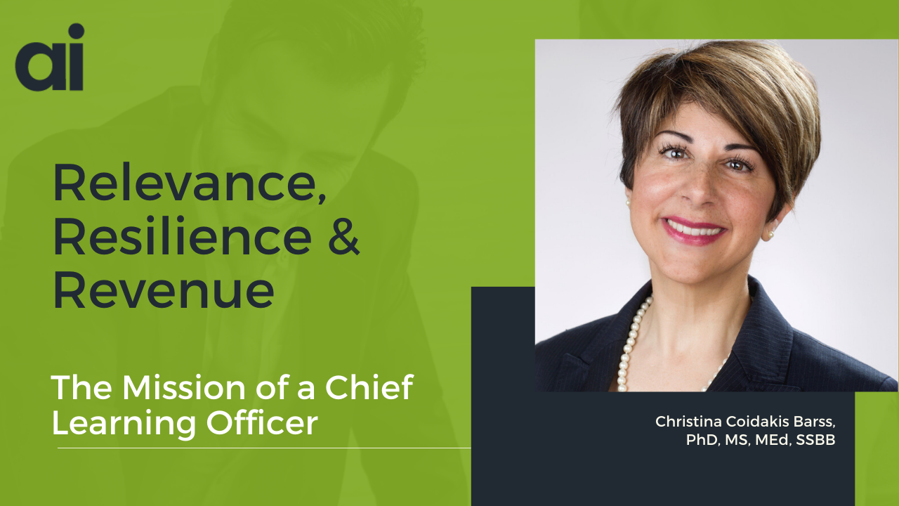 Social Post - Relevance, Resilience, Revenue - Christina Barss - Mission of CLO
