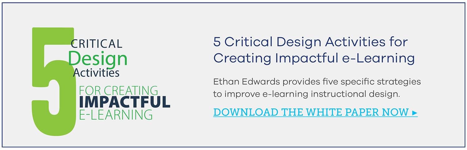 5 Critical Design Activities for Creating Impactful e-Learning White Paper
