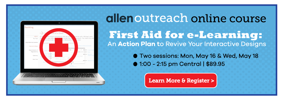 Online Course First Aid for eLearning An Action Plan to Revive Your Interactive Designs